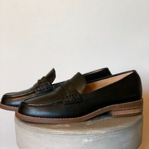 Madewell Black The Elinor Leather Loafers